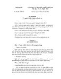 Nghị định số 11/2013/NĐ-CP về quản lý đầu tư phát triển đô thị