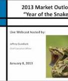 ECONOMIC AND FINANCIAL MARKET OUTLOOK  2013
