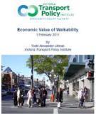 Economic Value of Walkability