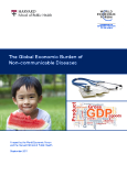 The Global Economic Burden of  Non-communicable Diseases