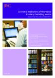 Economic Implications of Alternative  Scholarly Publishing Models