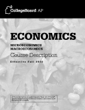 EcoNomics microEconomics  macroeconomics Course Description