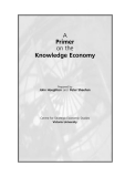 A Primer on the Knowledge Economy