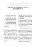 """Báo cáo khoa học: """"a Method for Automatic Evaluation of Machine Translation"""""""