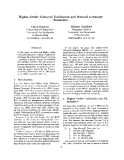 "Báo cáo khoa học: ""Higher-Order Coloured Unification and Natural Language Semantics"""