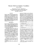 "Báo cáo khoa học: ""Tricolor DAGs for Machine Translation"""