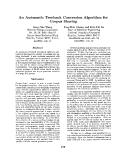 "Báo cáo khoa học: ""An Automatic Treebank Conversion Algorithm for Corpus Sharing"""