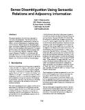 "Báo cáo khoa học: ""Sense Disambiguation Using Semantic Relations and Adjacency Information"""