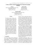 """Báo cáo khoa học: """"A Study on Richer Syntactic Dependencies for Structured Language Modeling"""""""