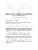 Quyết định số 05/2013/QĐ-UBND