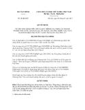 Quyết định số 20/QĐ-BTC
