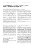 Báo cáo khoa học:  RNA-binding properties of HCF152, an Arabidopsis PPR protein involved in the processing of chloroplast RNA