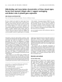 Báo cáo khoa học:  DNA-binding and transcription characteristics of three cloned sigma factors from mustard (Sinapis alba L.) suggest overlapping and distinct roles in plastid gene expression