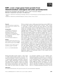 Báo cáo khoa học: GHP, a new c-type green heme protein from Halochromatium salexigens and other proteobacteria