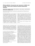 Báo cáo khoa học: Efficient inhibition of b-secretase gene expression in HEK293 cells by tRNAVal-driven and CTE-helicase associated hammerhead ribozymes