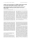 Báo cáo khoa học:  Isolation and characterization of an IgNAR variable domain specific for the human mitochondrial translocase receptor Tom70
