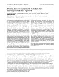 Báo cáo khoa học:  Diversity, taxonomy and evolution of medium-chain dehydrogenase/reductase superfamily