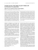 Báo cáo khoa học:  Transient increase of the labile iron pool in HepG2 cells by intravenous iron preparations Brigitte Sturm, Hans Goldenberg and Barbara Scheiber-Mojdehkar