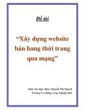 Đề tài: Xây dựng website  bán hang thời trang qua mạng
