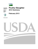 Poultry Slaughter  2012 Summary