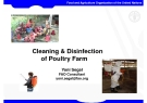 Cleaning & Disinfection of Poultry Farm