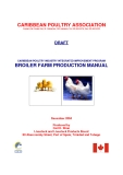 CARIBBEAN POULTRY INDUSTRY INTEGRATED IMPROVEMENT PROGRAM BROILER FARM PRODUCTION MANUAL