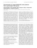 Báo cáo Y học: Characterization of a cloned subtilisin-like serine proteinase from a psychrotrophic Vibrio species