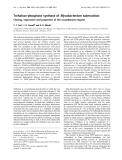 Báo cáo Y học:  Trehalose-phosphate synthase of Mycobacterium tuberculosis Cloning, expression and properties of the recombinant enzyme