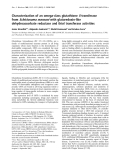 Báo cáo Y học:  Characterization of an omega-class glutathione S-transferase from Schistosoma mansoni with glutaredoxin-like dehydroascorbate reductase and thiol transferase activities