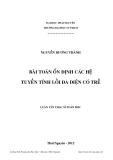 Luận văn Thạc sĩ Toán học: Bài toán ổn định các hệ tuyến tính lồi đa diện có trễ