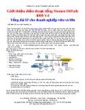 Giới thiệu điện thoại tổng Siemen HiPath 4000 V4