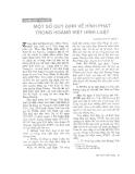 """Báo cáo """"    Một số quy định về hình phạt trong Hoàng Việt hình luật"""""""