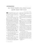 """Báo cáo """"Sự phát triển của pháp luật quốc tịch Việt Nam """""""