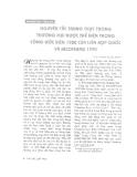 """Báo cáo """" Nguyên tắc trung thực trong thương mại được thể hiện trong Công ước Viên 1980 của Liên hợp quốc và INCOTERMS 1990"""""""