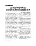 """Báo cáo """"   Cách tháo gỡ một số vướng mắc khi giải quyết tranh chấp lao động tại toà án """""""