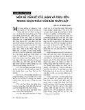 Một số vấn đề lý luận và thực tiễn trong soạn thảo văn bản pháp luật