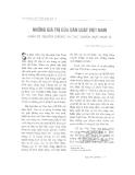 """Báo cáo """"  Những giá trị của dân luật Việt Nam nhìn từ truyền thống và các chuẩn mực pháp lí """""""