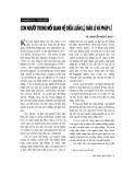 """Báo cáo """" Con người trong mối quan hệ giữa luân lý, giáo lý và pháp lý"""""""