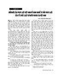 """Báo cáo """" Điểm mới của pháp luật Việt Nam về hành nghề tư vấn pháp luật của tổ chức luật sư nước ngoài tại Việt Nam"""""""