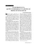 """Báo cáo """"Cơ sở pháp lý của quyền tự định đoạt của đương sự trong tố tụng dân sự """""""