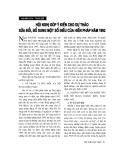 """Báo cáo """" Hội nghị góp ý kiến cho Dự thảo sửa đổi, bổ sung một số điều của Hiến pháp 1992"""""""