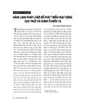 """Báo cáo """"Hành lang pháp lý mới để phát triển hoạt động cho thuê tài chính ở nước ta """""""