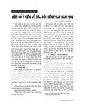"""Báo cáo """"  Một số ý kiến về sửa đổi Hiến pháp năm 1992"""""""