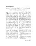 """Báo cáo """" Một số vấn đề về kỷ luật lao động trong Bộ luật lao động """""""