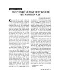 """Báo cáo """" Mấy vấn đề pháp luật kinh tế Việt Nam hiện nay"""""""