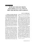 """Báo cáo """" Buôn bán nội gián trong hoạt động của các công ti trên thị trường chứng khoán"""""""