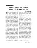 """Báo cáo """"Pháp luật quốc tịch Việt Nam - những vấn đề pháp lý cơ bản """""""