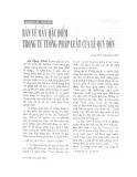 """Báo cáo """" Bàn về mấy đặc điểm trong tư tưởng pháp luật của Lê Quý Đôn"""""""
