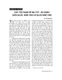 """Báo cáo """"Các tội phạm về ma tuý - so sánh giữa Bộ luật hình sự năm 1985 và Bộ luật hình sự năm 1999 """""""
