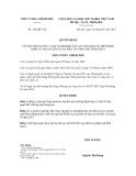 Quyết định số  168/QĐ-TTg